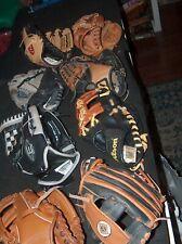 Lot Of 8 Kids Baseball Gloves - T-ball Minors Smaller Sizes Tball
