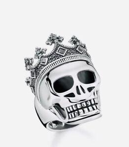 Genuine Thomas Sabo Crown Skull Mens Ring Size 62