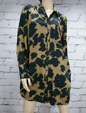 Yarra Trail Tunic Shirt Camouflage Brown Black Sz S Long 3/4 Tab Sleeve Pockets