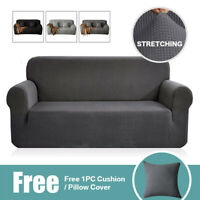 Fleece Easy Fit Sofa Slipcover Stretch Protector Soft Couch Cover 1/2/3 Seat