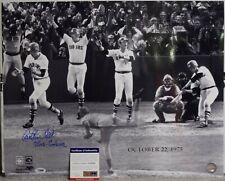 CARLTON FISK 1975 World Series GM 6 HR Red Sox Signed 16X20 Photo PSA/DNA COA