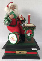 Vintage Musical Santa Holiday Creations 1993 Plays Christmas Carols - Works