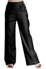 Hell Bunny Honey Bear High Waist Retro 40s 50s Vintage Pants Wide Leg Trousers