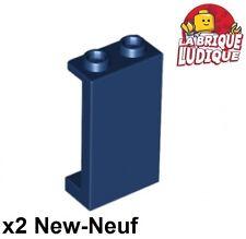 Lego - 2x Panel Panneau 1x2x3 Side Supports H. Studs bleu f/dark blue 87544 NEUF