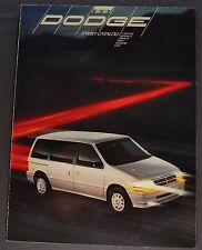 1991 Dodge Brochure Caravan Monaco Dynasty Spirit Shadow Colt Excellent Original