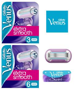 Gillette Venus SWIRL EXTRA SMOOTH Women's 5 Blade 1,3 or 6 Razor Cartridges
