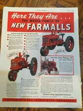 1939 vintage farm all tractor add in color mint condition