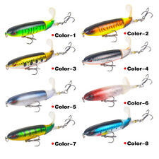 Whopper Plopper Topwater Floating Fishing Lures Rotating Tail for Bass- 8 Colors