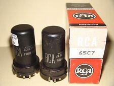 2 RCA 6SC7 Vacuum Tubes Results= 1395/1280  1360/1230