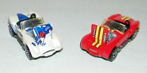 2 Vintage 1982 HOT WHEELS REAL RDERS CLASSIC Shelby COBRA'S RED /White Both MINT