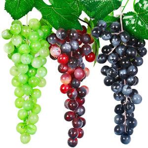 Artificial Fruit Grape Food Lifelike Fake Fruits Plant Home Office Party Decor
