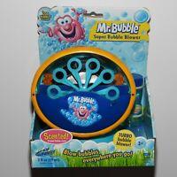 Kid Galaxy Mr Bubble Super Bubble Blower Battery Machine Blue & Yellow