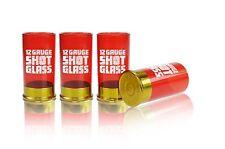 12 Gauge Shot Glass set of 4 Shotgun Gun Shells Fun Creative Gift Idea Mustard