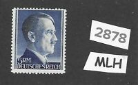 #2878   Adolph Hitler stamp / MLH 1940s / 5RM Third Reich / WWII Germany Sc527a