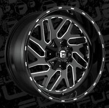 22x10 ET-18 Fuel D581 Triton 5x139.7/5x150  Black Milled Wheels (Set of 4)
