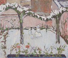 Landschaft mit Schneemann,Postimpressionismus,Fauvismus,signiert