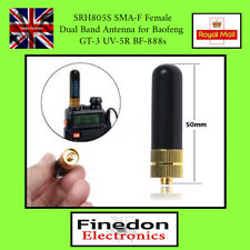 Small SRH-805S SMA-F Dual Band UHF-VHF Antenna for Baofeng UV-5R UK Seller.