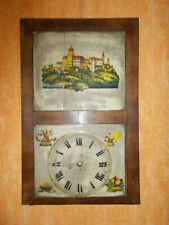 Uhren Schild für eine Flötenuhr mit Kettenaufzug, ca. 1800