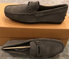 $595 New Tods Mens Gray Beige Shoes Size 7 US 6 UK 40 EU