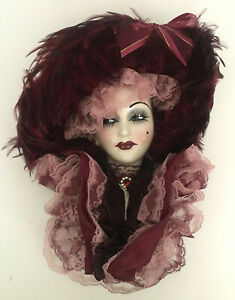 VTG. Unique Creations Lady Face Mask Wall Decor Signed & Numbered NIB ATTIC FIND