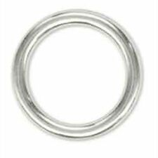 "Solid Ring Chrome Plated 1"" 10 Pack New 1181-10 Tandy Leathercraft"