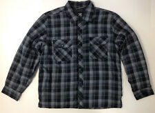 BC Clothing Men Quilted Lining Cotton Flannel Shirt Jacket Plaid 1140902 Grey L