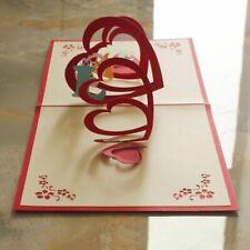 Valentines Greeting Card Romantic Pop Up Gift Postcard Wedding Anniversary Cards