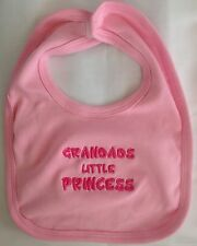 Personalised  Embroidered pink girl Blue Boy Baby shower feeder Christening BIB