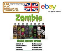 EVIL Zombie Battery Wraps Heat Shrink PVC Sleeves Zombie