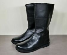 Geox Mid Calf Boots, Black Leather, Little Kid Size 2 / 33