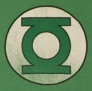 Green Lantern Logo T-Shirt Medium Distressed DC Comics Superhero Justice League