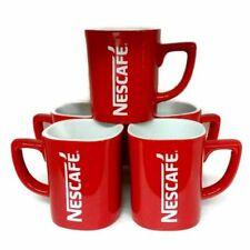 Set 4 Nescafe Red Cup Coffee Mug Ceramic Collectible 8Oz Classic Vintage Tea DHL