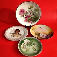 ANTIQUE PORCELAIN PLATES COLLECTIBLE RS GERMANY NIPPON CT ALTWASSER LOT OF 4