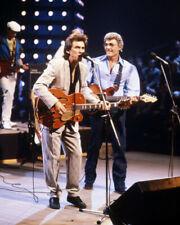 George Harrison Carl Perkins On Stage Performing 8x10 Photo