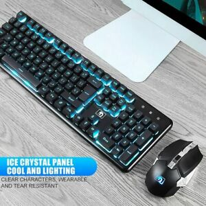 2400DPI Wireless Rechargeable Gaming Keyboard Backlit Waterproof Mouse Combo