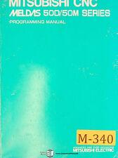 Mitsubishi CNC Meldas 50D/50M Seris, Programming Manual Year (1995)