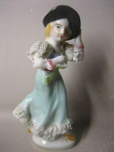Vintage Japanese hand painted lady figurine
