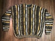 TUNDRA Canada Sweater Multicolor Pullover Textured Coogi Style Mens 3XL-T Tall