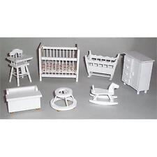 1/12th Scale Dolls House White Nursery Set DF269