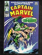Captain Marvel #4 ~ Enter: Sub-Mariner ~ 1968 (Grade 8.0) WH