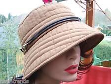 Mujer Sombrero Gorro beige crema blanca caso Sombrero papierstroh