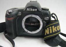 NIKON D70 6.1 MP Black BODY ONLY Digital CAMERA Display Works NO LENS