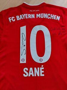 SANE - FCB Trikot Original mit Unterschrift und Zusatz-Satz