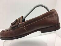 Cole Haan Brown Leather Kiltie Tassel Loafer Moc Toe Slip On Shoe Men's Size 9 D