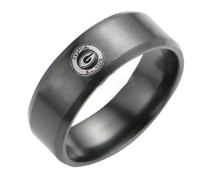New Georgia Bulldogs Black Stainless Steel Engraved Ring Sizes 8 9 10 11 12 13