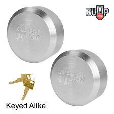 American / Master Lock -(2) Elite Solid Steel Hidden Shackle Padlocks A2010NKA-2
