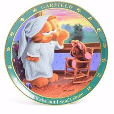 "Garfield Collector Plate ""I'll Rise But I Won't Shine"" w/ COA"