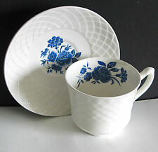 Enoch Wedgewood Turnstall England Blue Rose Ironstone Tea Cup SAUCER FREE SH