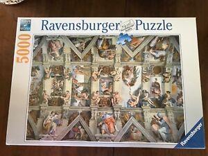 Ravensburger 5000 Piece Puzzle Sistine Chapel Ceiling Sealed No. 17 429 4