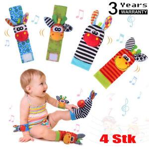 Baby Rasseln Socken Spielzeug Handgelenk Rassel und Fuß Finder für Neugeborene